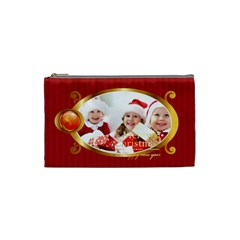 Merry Christmas By Xmas   Cosmetic Bag (small)   Janvx1c4lrcv   Www Artscow Com Front