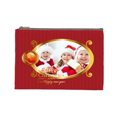 Merry Christmas By Xmas   Cosmetic Bag (large)   R9w82ba4uqbq   Www Artscow Com Front