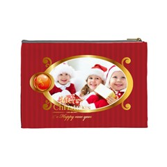 Merry Christmas By Xmas   Cosmetic Bag (large)   R9w82ba4uqbq   Www Artscow Com Back