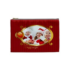 Merry Christmas By Xmas   Cosmetic Bag (medium)   1kxmjm2dlduo   Www Artscow Com Front