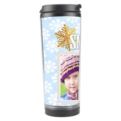 Snow By Joely   Travel Tumbler   Qq14olj9omuk   Www Artscow Com Left