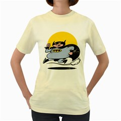 Batguy  Womens  T Shirt (yellow)