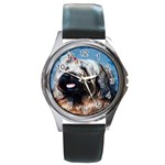 Briard Round Metal Watch
