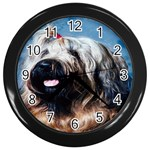 Briard Wall Clock (Black)