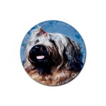 Briard Rubber Round Coaster (4 pack)