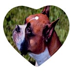 boxer Ornament (Heart)