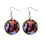 boxer 1  Button Earrings