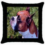 boxer Throw Pillow Case (Black)