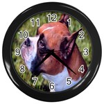 boxer Wall Clock (Black)