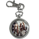 basset hounds two Key Chain Watch