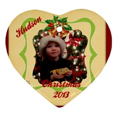 Hudson 2013 By Angela Galloway   Heart Ornament (two Sides)   Gcfgbuqup8ak   Www Artscow Com Front