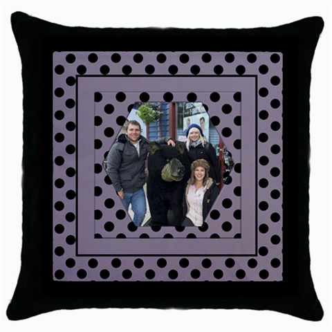 Lilac Adventures Throw Pillow Casse By Deborah   Throw Pillow Case (black)   K5u8cqxx296k   Www Artscow Com Front