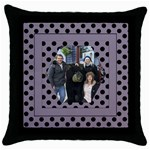 Lilac adventures Throw Pillow Casse - Throw Pillow Case (Black)