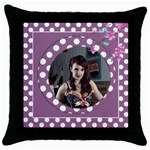 Sweet Lilac Throw Pillow Casse - Throw Pillow Case (Black)