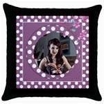 Sweet Lilac Throw Pillow Casse - Throw Pillow Case (Black)