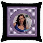 Gone dotty Throw Pillow Casse - Throw Pillow Case (Black)