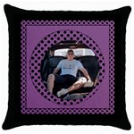 Purple spotty Throw Pillow Casse - Throw Pillow Case (Black)