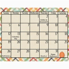 2014 Family Calendar By Sweetheaven   Wall Calendar 11  X 8 5  (12 Months)   Cc5f3v018zba   Www Artscow Com Oct 2014