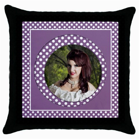 My Lilac Throw Pillow Casse By Deborah   Throw Pillow Case (black)   E8sgpqicwbrs   Www Artscow Com Front