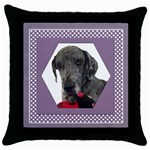 All Framed in Lilac Throw Pillow Casse - Throw Pillow Case (Black)