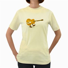Solo Guitar  Womens  T Shirt (yellow)