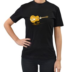 Solo Guitar Womens' Two Sided T Shirt (black)