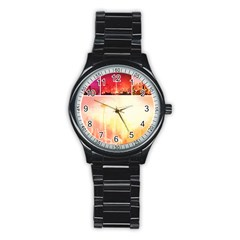 Shades Of Red Space Needle Sport Metal Watch (black) by stineshop
