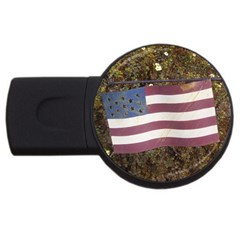 flag USB Flash Drive Round (1 GB) by beachrubbish