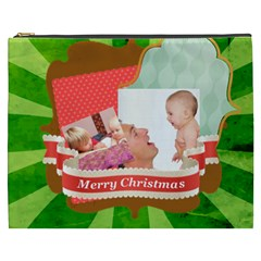 Merry Christmas By Joely   Cosmetic Bag (xxxl)   Er0dky0odl3f   Www Artscow Com Front