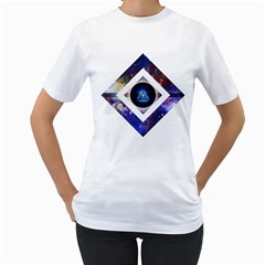 Center Of Existence Womens  T Shirt (white)