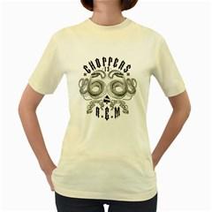 R E M 13  Womens  T Shirt (yellow)