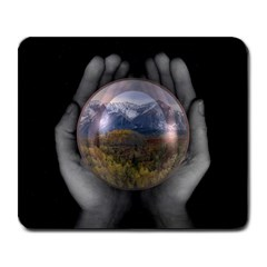 The World Is In Your Hands Large Mousepad from ArtsNow.com Front
