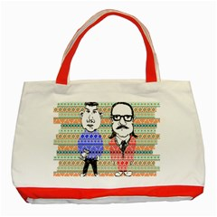 The Cheeky Buddies Classic Tote Bag (red) by doodlelabel