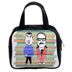 The Cheeky Buddies Classic Handbag (two Sides) by doodlelabel