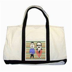 The Cheeky Buddies Two Toned Tote Bag by doodlelabel