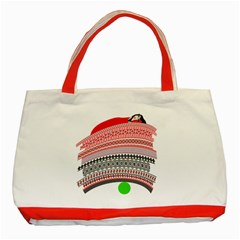 The Princess And The Pea Classic Tote Bag (red) by doodlelabel