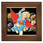 supergirl and the legend of super heroes Framed Tile