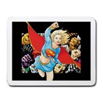 supergirl and the legend of super heroes Small Mousepad