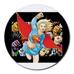 supergirl and the legend of super heroes Round Mousepad