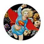 supergirl and the legend of super heroes Ornament (Round)