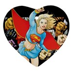 supergirl and the legend of super heroes Ornament (Heart)