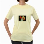 supergirl and the legend of super heroes Women s Yellow T-Shirt