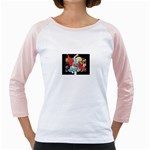 supergirl and the legend of super heroes Girly Raglan