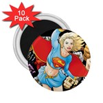 supergirl and the legend of super heroes 2.25  Magnet (10 pack)