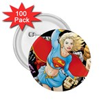 supergirl and the legend of super heroes 2.25  Button (100 pack)