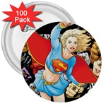 supergirl and the legend of super heroes 3  Button (100 pack)