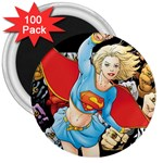 supergirl and the legend of super heroes 3  Magnet (100 pack)