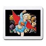supergirl and the legend of super heroes Large Mousepad