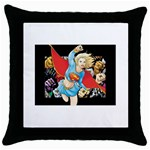 supergirl and the legend of super heroes Throw Pillow Case (Black)