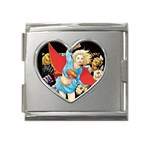 supergirl and the legend of super heroes Mega Link Heart Italian Charm (18mm)